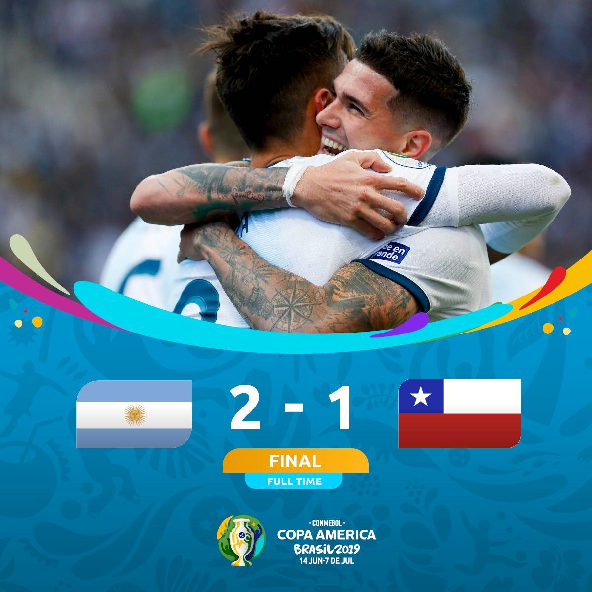 天命?阿根廷近8次战智利取6胜,但两次决赛点球告负