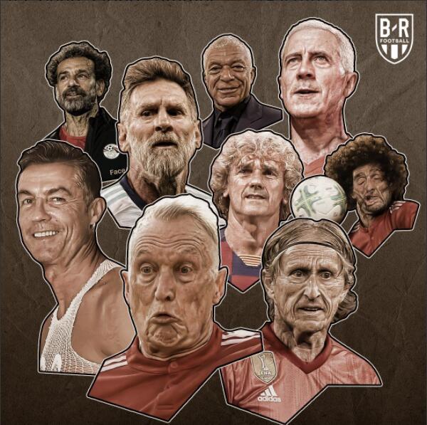 当你老了! B/  R海报:当球星一一老去, 会是什么样子呢