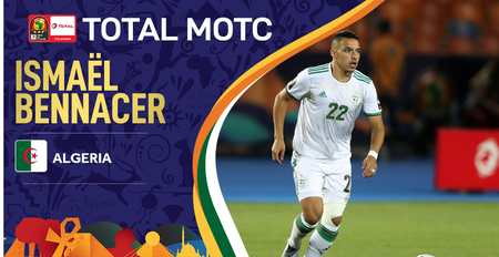 官方:阿尔及利亚中场贝纳塞当选本届非洲杯最佳球员