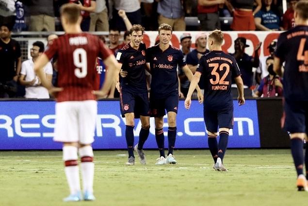 ICC:戈雷茨卡破门特奥半场伤退,拜仁1-0AC米兰