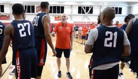 美国男篮官方发布加入美国男篮训练营与陪练队名单