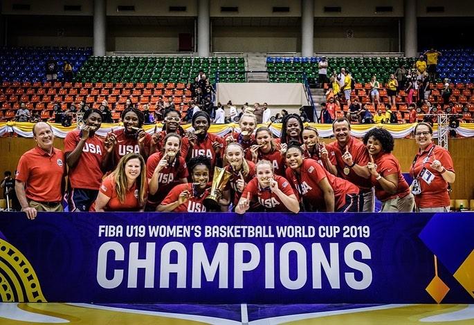 美国女篮力克澳大利亚夺得U19女篮世界杯冠军