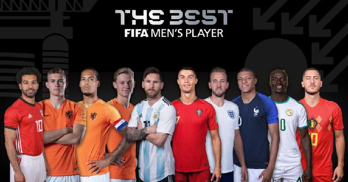 国际足联最好球员候选:梅罗领衔,范戴克在列