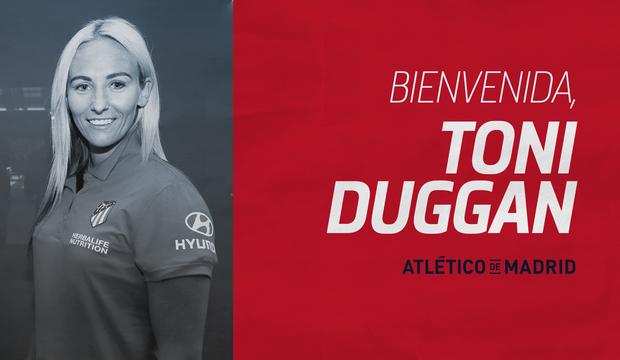 官方:马竞女足免费签下英格兰女足前锋托尼-杜根