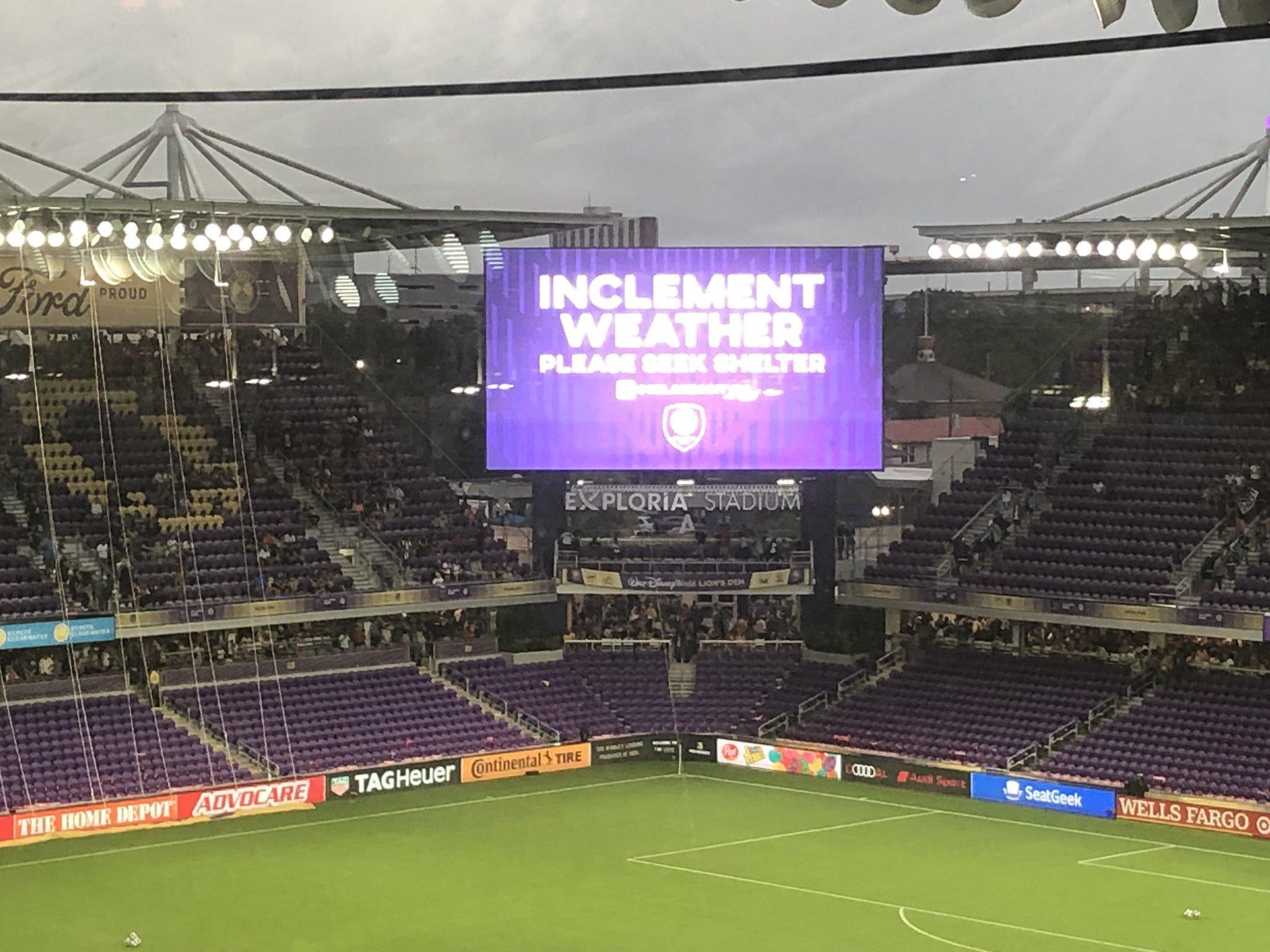 天公又不做美!马竞与MLS全明星的竞赛推延30分钟
