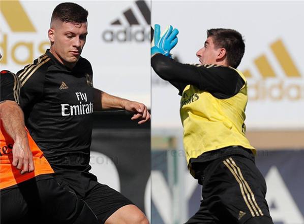 约维奇与库尔图瓦恢复合练,卡塞米罗加入训练