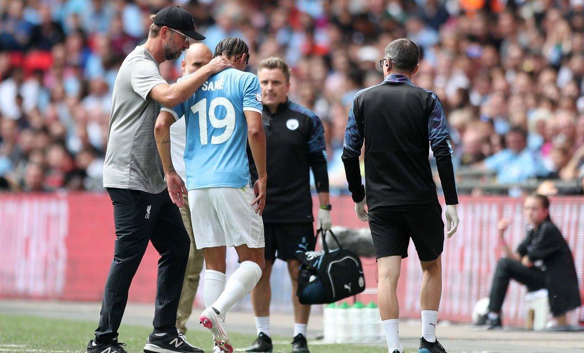 英媒:萨内伤势不重,换下他仅为了保险起见