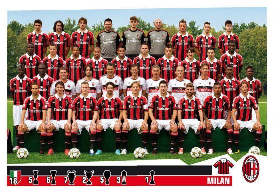 和阿森纳一样,AC米兰12/13赛季队员也已经全部离队