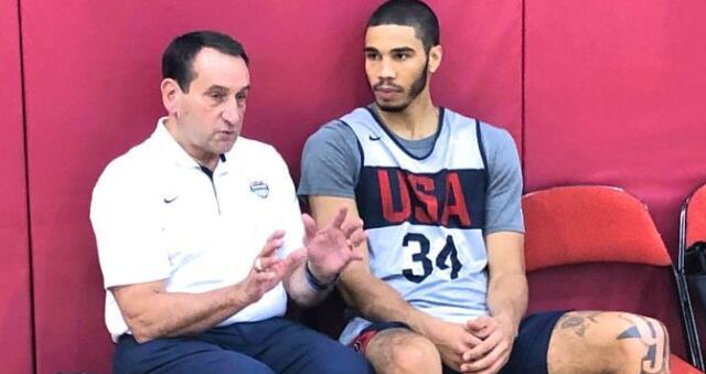 塔特姆谈老K教练探访美国队:见到他真开心