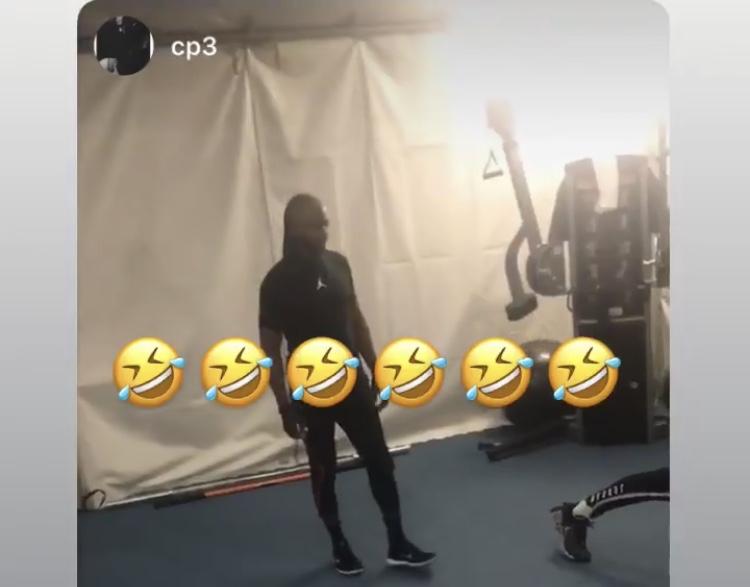 詹姆斯利用保罗Ins发布其训练视频,随后转发至自己账号