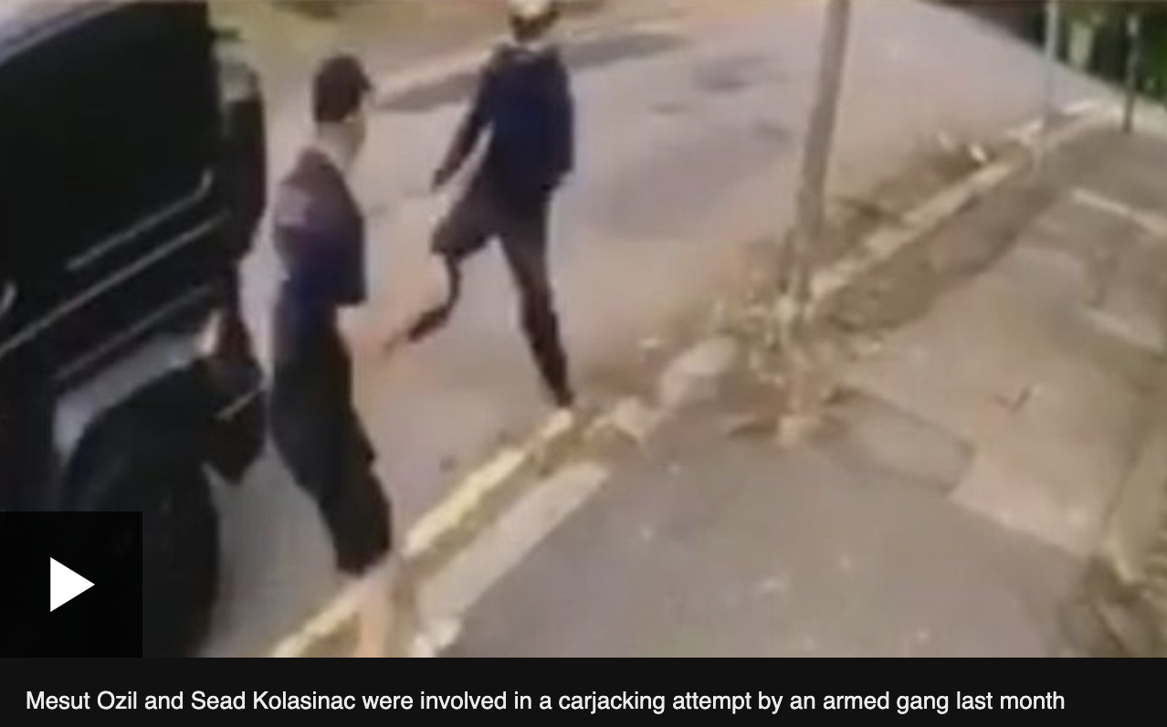 BBC:厄齐尔家附近有两名男子被抓,与劫车案无关