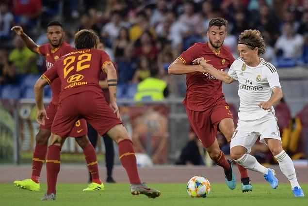 友谊赛:马塞洛传射佩罗蒂哲科齐破门凯时ag,罗马2-2皇马