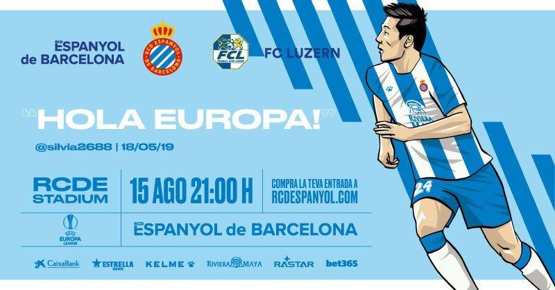 西班牙人发布欧联次回合比赛海报,武磊登上封面