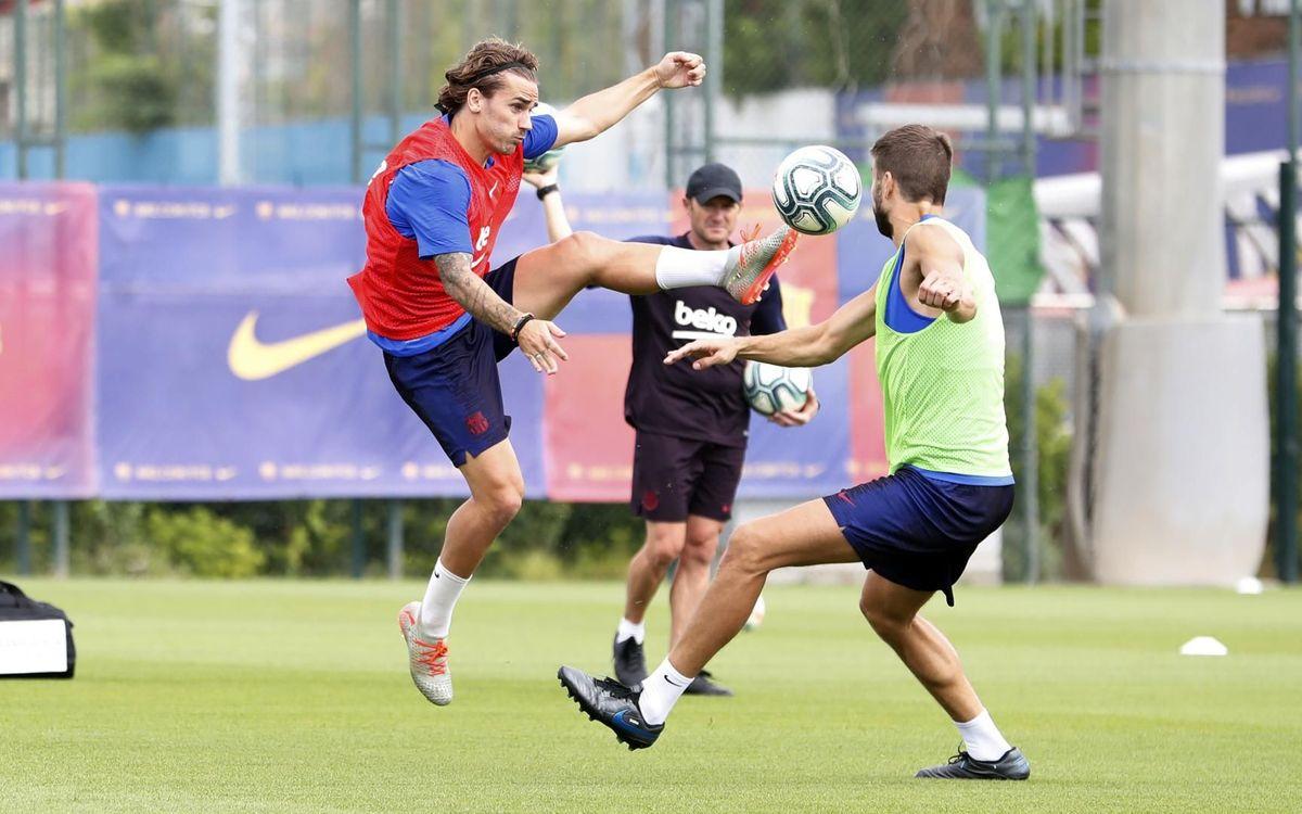 梅西继续室内恢复性训练,塞梅多也未参加球队合练