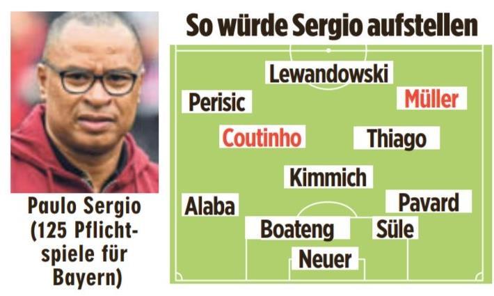拜仁名宿:库蒂尼奥可以踢左中场,穆勒踢右边锋