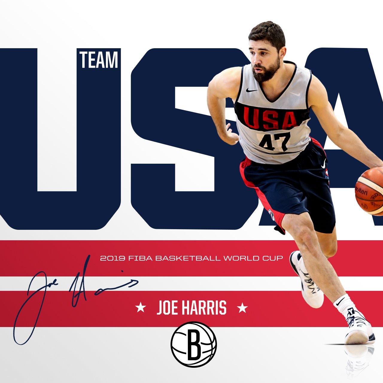 三分神射!篮网官方祝贺乔-哈里斯入选美国男篮最终名单