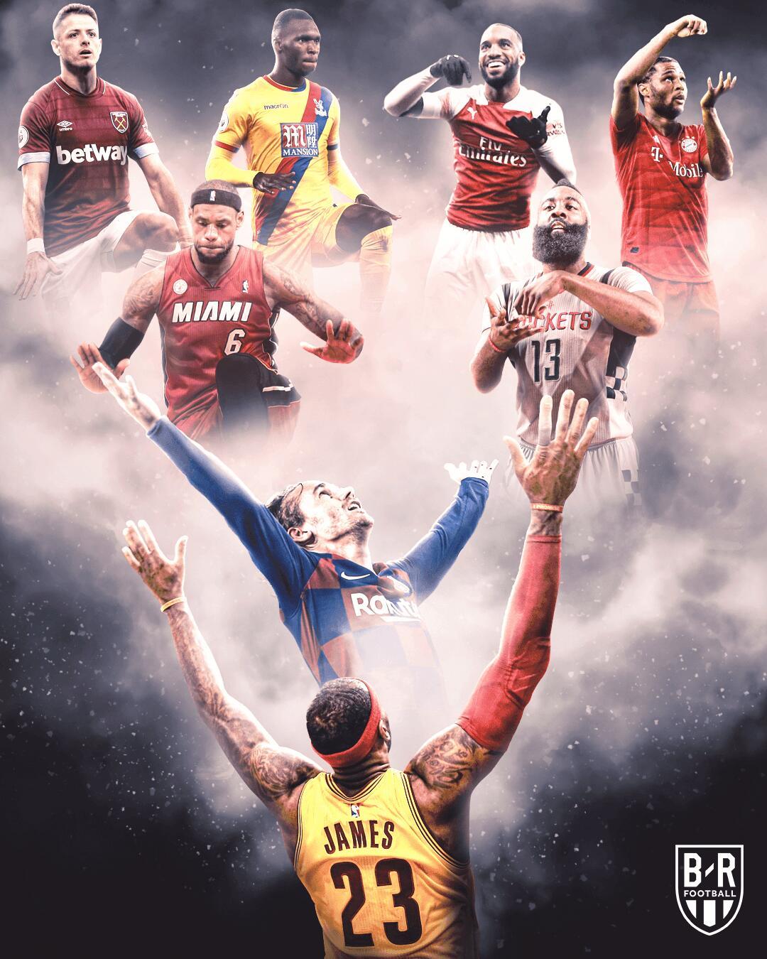 B/R海报:足篮跨界,那些模仿NBA球星祝贺行作hg0088官网球员