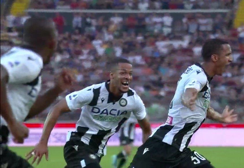 GIF:德保罗助攻贝考头槌破门,乌迪内斯1-0米兰