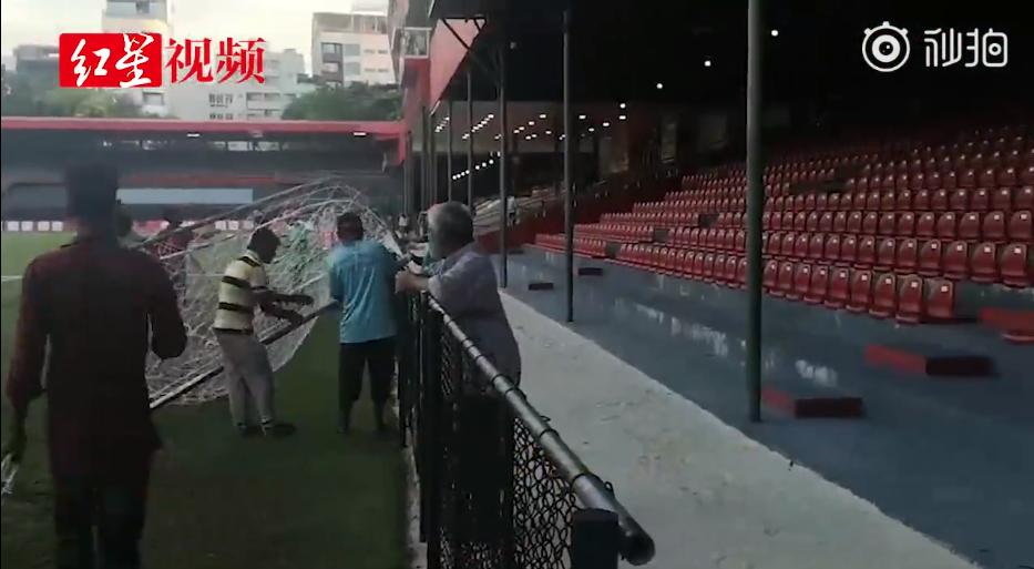 条件堪郁闷,中马战前镇日马尔代夫还在补球网和维修灯光