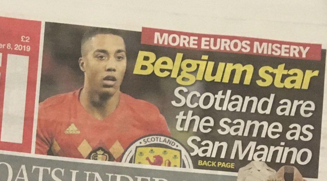 蒂勒曼斯称苏格兰圣马力诺一个水平被批,结果都输0-4