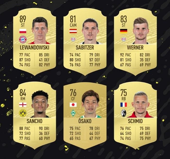 德甲8月最佳球员候选:莱万领衔,桑乔和维尔纳入选