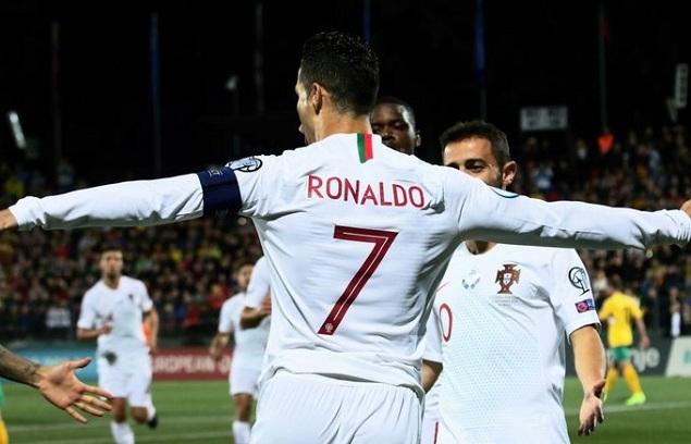 欧初赛:C罗上演大hg0088皇冠喜B席两传,葡萄牙客场5-1立陶宛
