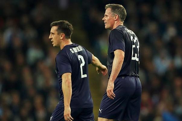 卡拉格黑内维尔:他上来就送了一球,伤退后我们踢得好了