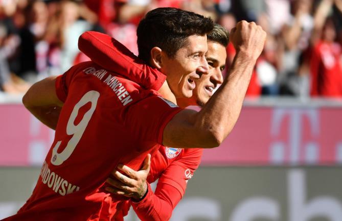 场均近1球!莱万为拜仁出战250场贡献249球