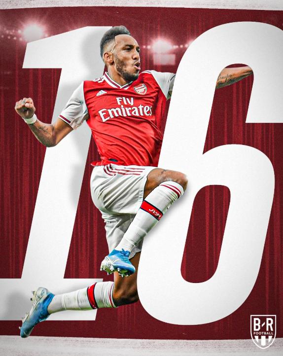奥巴梅扬已连续4场为阿森纳进球,近16场16球