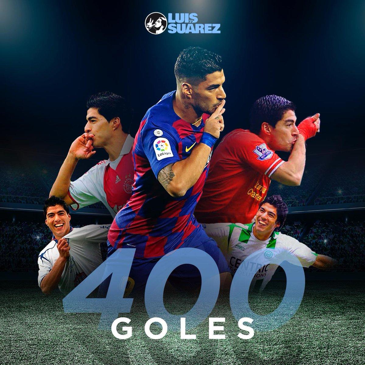 苏亚雷斯发定制海报:很高兴能取得俱乐部生涯400球!