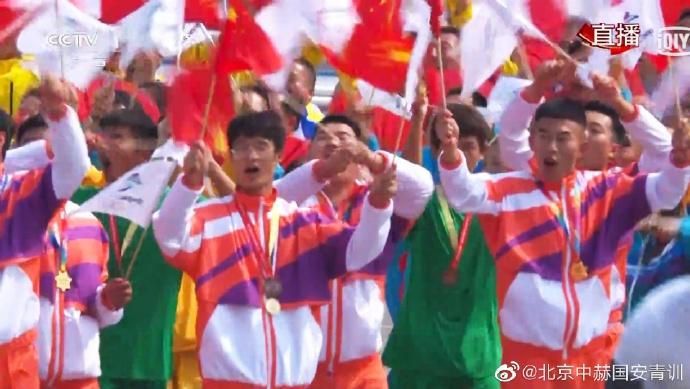 多图流:北京国安U15队参加国庆典礼,现身体育强国方阵