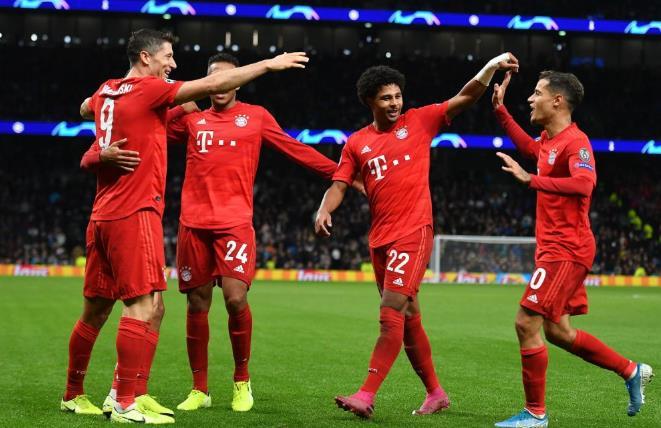 拜仁热刺赛后评分:格纳布里莱万诺伊尔全场最佳