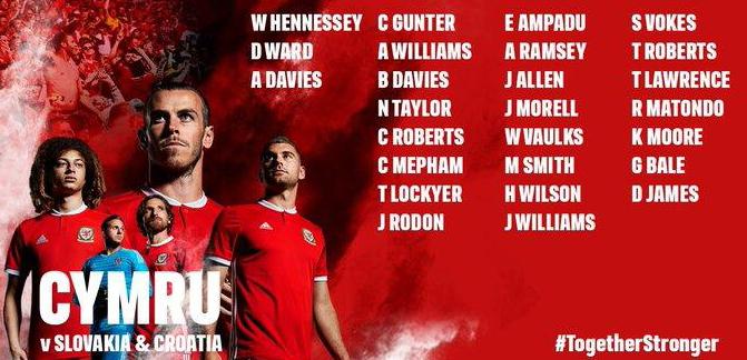 威尔士大名单:拉姆塞伤愈归队,贝尔和丹尼尔在列