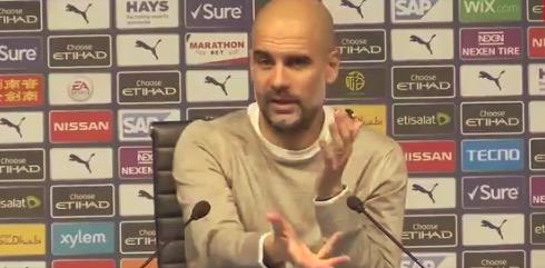 瓜迪奥拉:拿球的时候回传给敌手先锋,你能怎么办?
