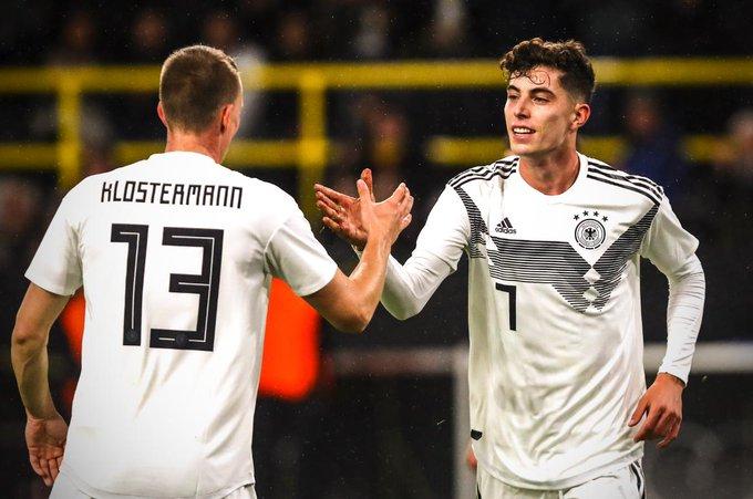 哈弗茨:能为德国进球是我童年的胡想,如今终于完成了