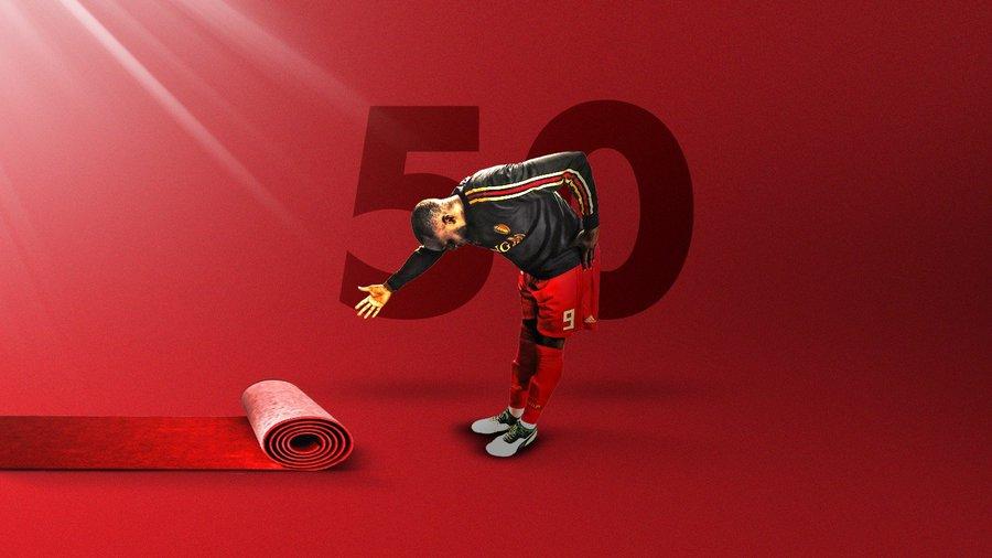 GIF:卢卡库打入国家队第50球,比利时取得领先