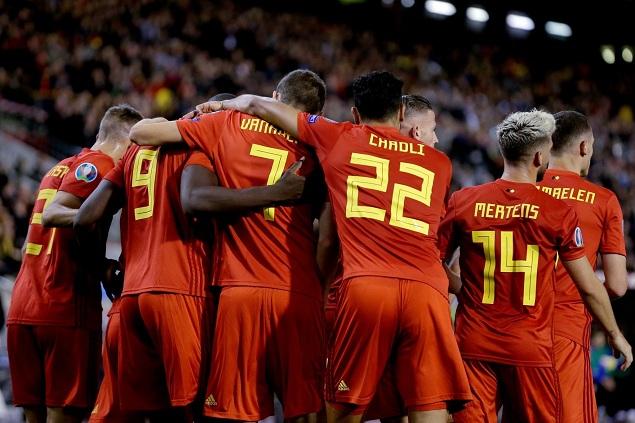 欧预赛:卢卡库2射1传阿扎尔两传,比利时9-0圣马力诺