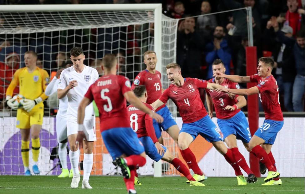 爆冷输给捷克,英格兰或失去欧洲杯种子身份