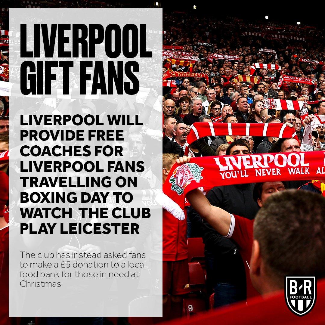 暖心!利物浦将在节礼日为出征客场的球迷提供免费大巴