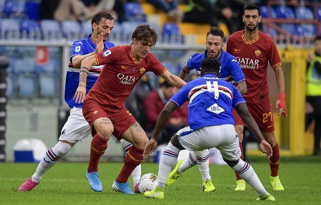 半场两人伤退幼克鲁伊维特染红,罗马客场0-0桑普