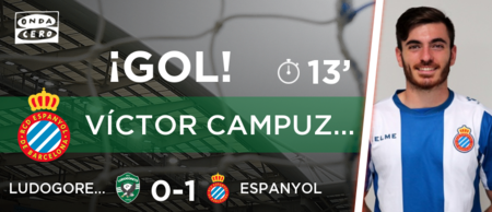 GIF:西班牙人中卫头球顶至禁区,坎普萨诺首开记录