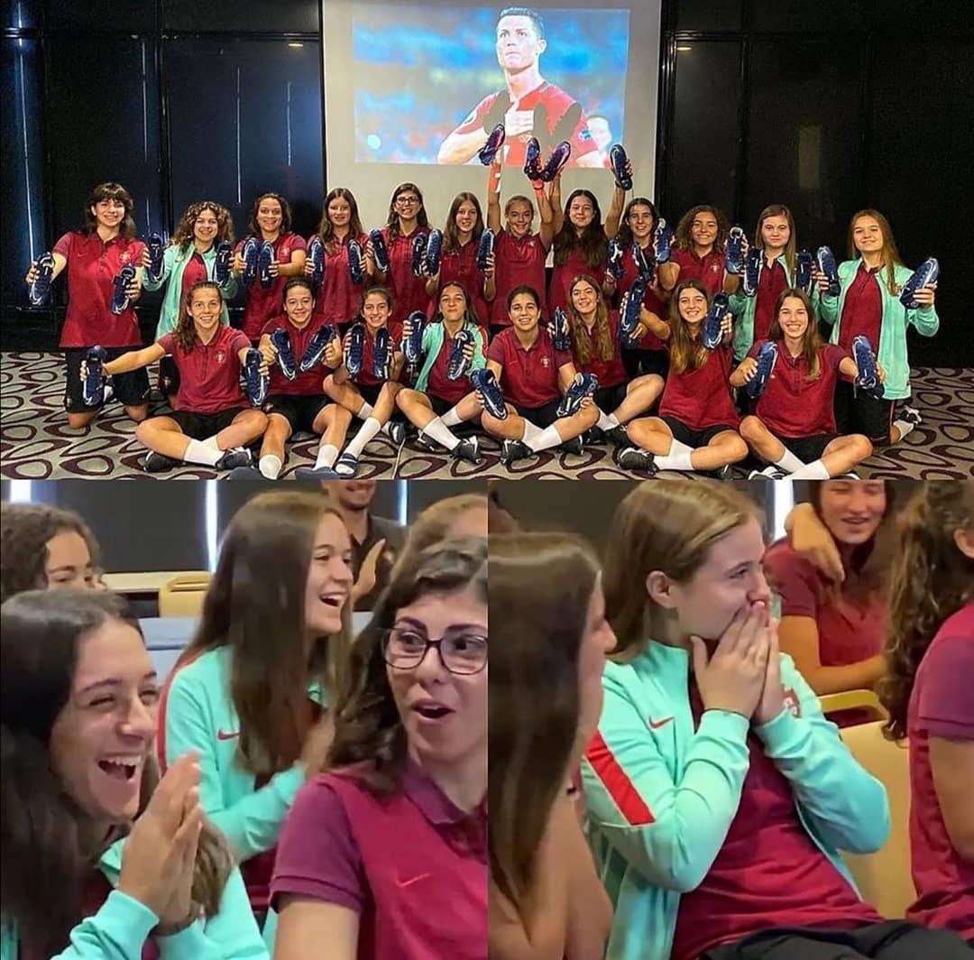 葡萄牙U17女足入围欧洲杯正赛,C罗致信鼓励并赠上球鞋