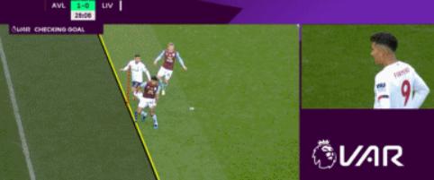 GIF:菲尔米诺打进扳平进球,后因越位被吹