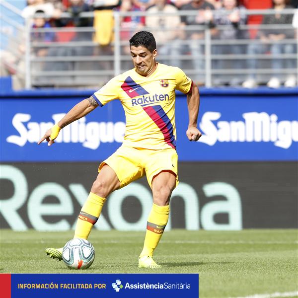 官方:苏亚雷斯右腿不适,回巴塞罗那后将接受进一步检查