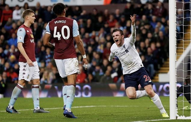 罗伯逊扳平马内传射+绝杀,利物浦客场2-1逆转维拉