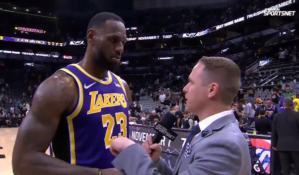 詹姆斯:不喜欢对手在我们头顶得分,超人统治了进攻篮板