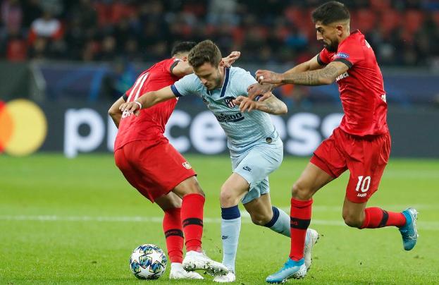 欧冠:托马斯送乌龙福兰德破门,勒沃库森2-1马德里竞技
