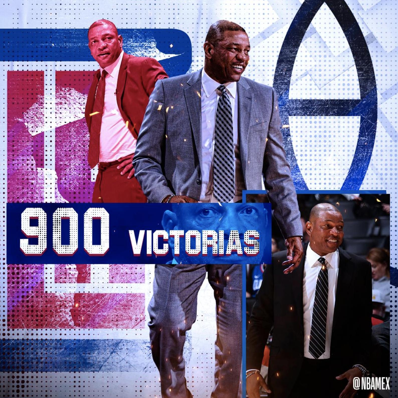 里弗斯成为历史第13位执教胜场数达到900场的主教练