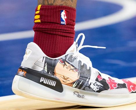 今日常规赛上脚球鞋一览:小凯文-波特上脚彪马客制版球鞋