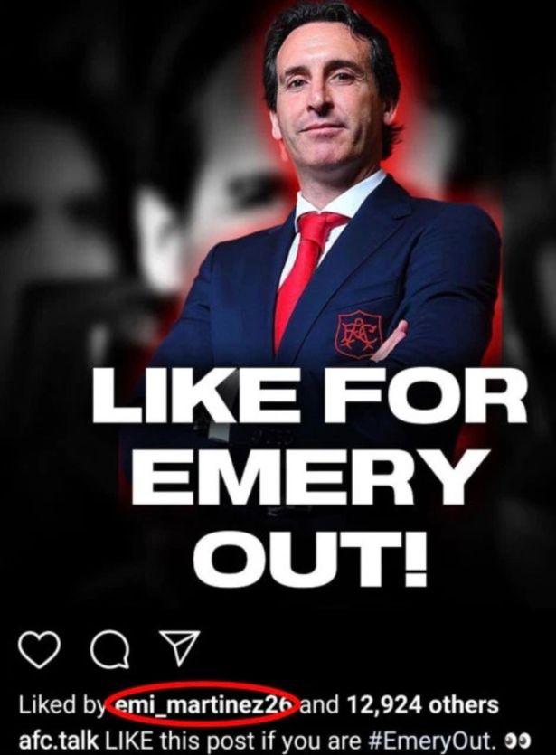 """阿森纳替补门将点赞""""埃梅里OUT"""",球迷:这显然是故意的"""